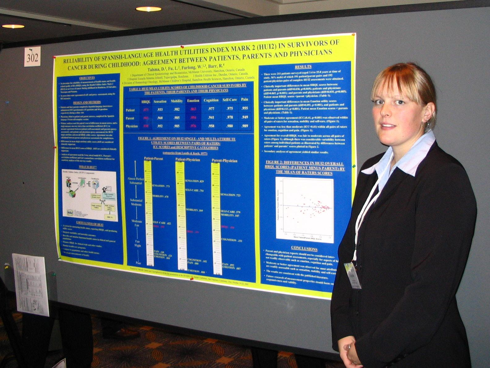 Danielle Talsma and poster at ISOQOL2005